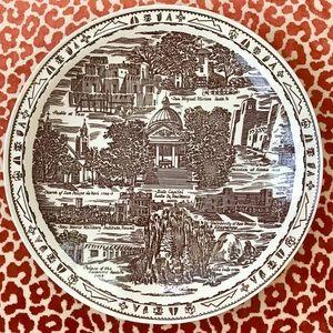 Vintage New Mexico State Plate Vernon Kilns USA